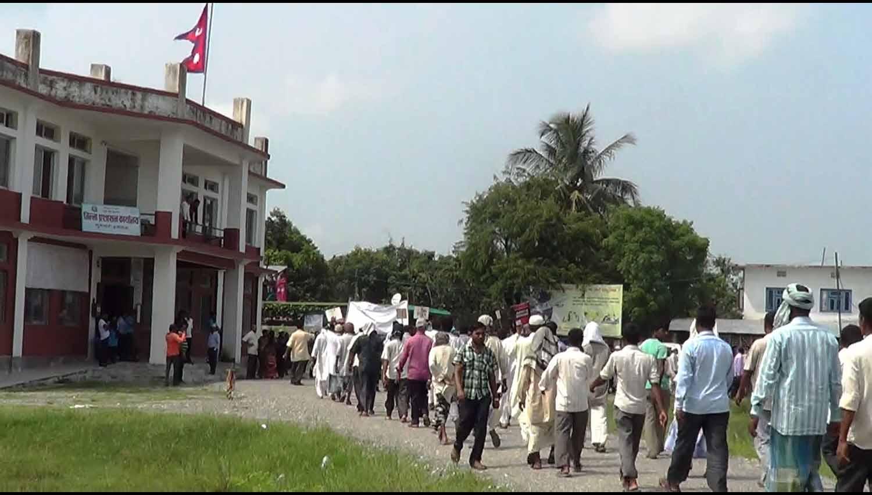 Inaruwa-muslim-samuday birodh pradarshan1