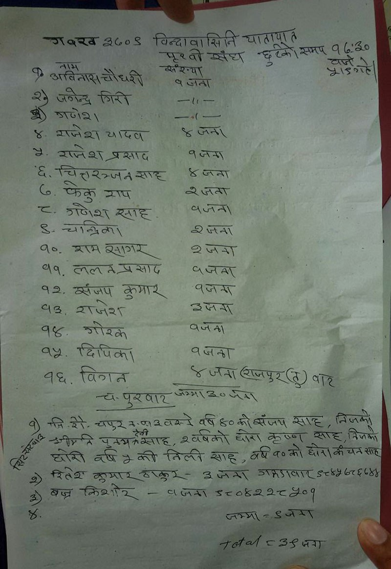 bus accident yatru list